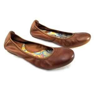 Born Brown Leather Ballet Flats size 9